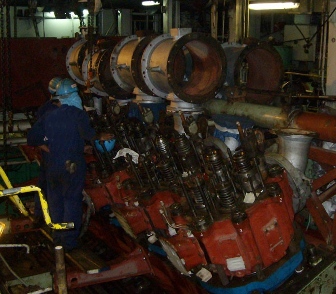 Main engine unit overhaul